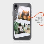 Custom Memory Polaroid Clear Phone Case With Photos Travel Pictures For iPhone 6 6S 7 8 X 10 XR XS Max Samsung Galaxy S8 S9 S10 Lite Cover