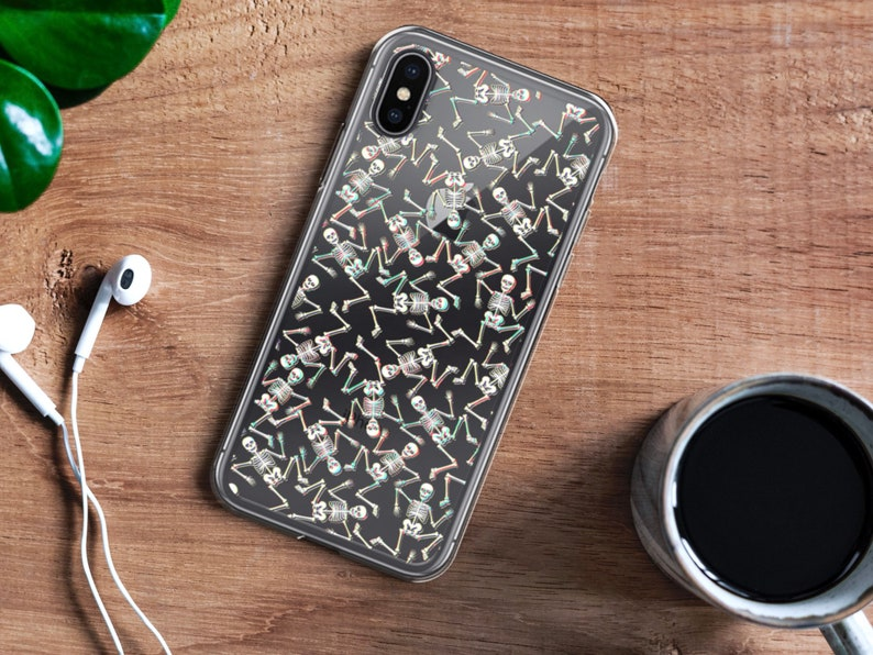 reputable site 69fe0 5e9e3 3D Glitch Grunge Skeleton Clear Phone Case Tumblr Aesthetic Hipster Cover  For iPhone 6 6S 7 8 Plus X 10 XR XS Max Galaxy S7 S8 S9 S10 Lite