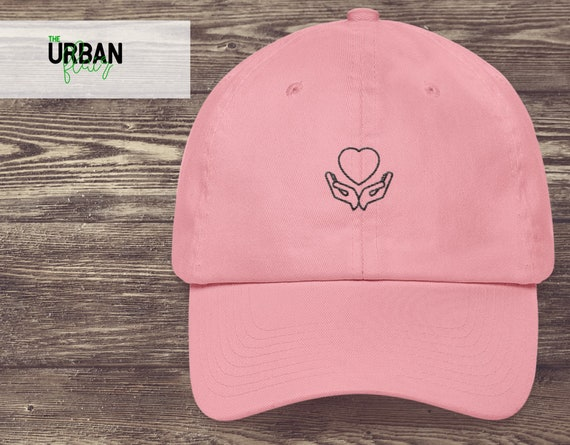 885b5d24c7383 Heart In Hands Embroidered Dad Hat ...