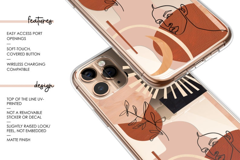 The Moon iPhone Case Clear Tarot Card iPhone Case iPhone 12 11 Pro Case iPhone XS Max Case iPhone XR Case Phone Cover iPhone 12 11 Case