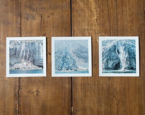 The talking Stones - triptych - 3 Fine art square prints