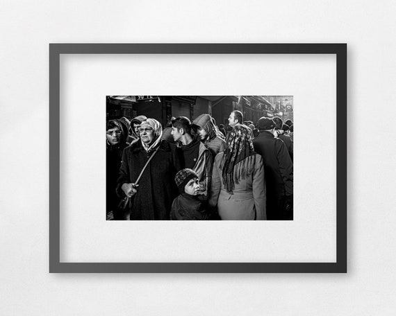 Fine Art Print - A Cold Sunday at the Market - unframed