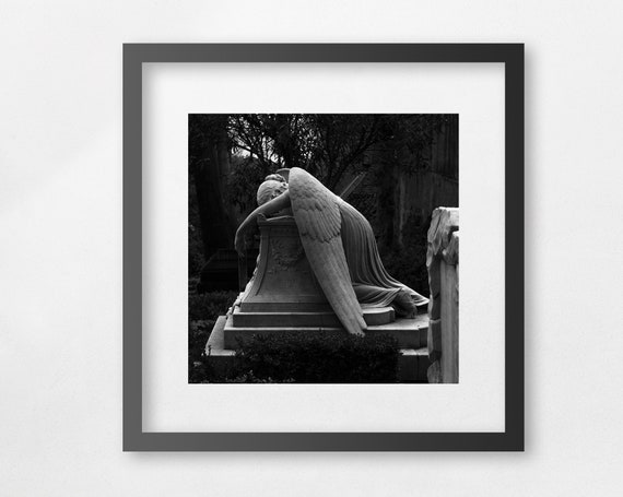 Angel of Grief - fine art square print - unframed