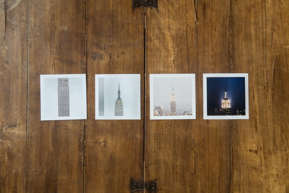 Empire State Building - set of 4 fine art prints