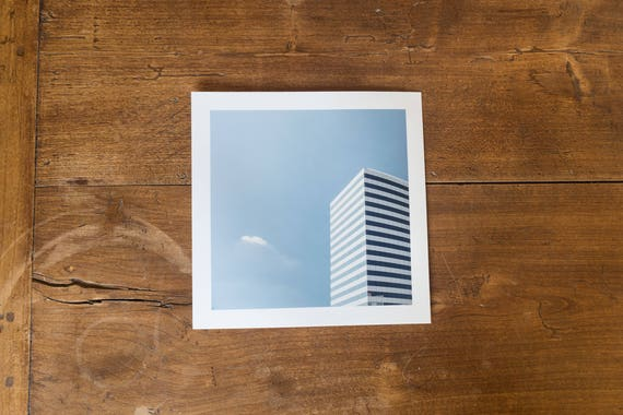 INAIL Tower (former Alitalia and IBM tower) – Study n.1 - - Fine art square print