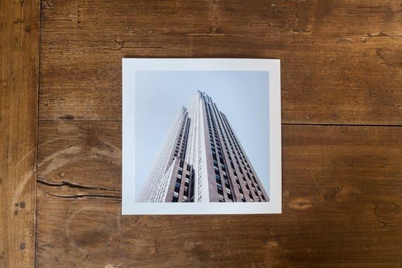 GE Building (former RCA Building) – Study n.2 - Fine art square print