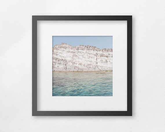 Fine art square  print - Beyond the thin wall there's the open, unknown sea - unframed