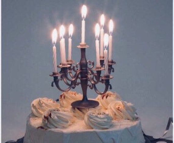 Birthday Cake Topper Candelabra Decoration And Candles