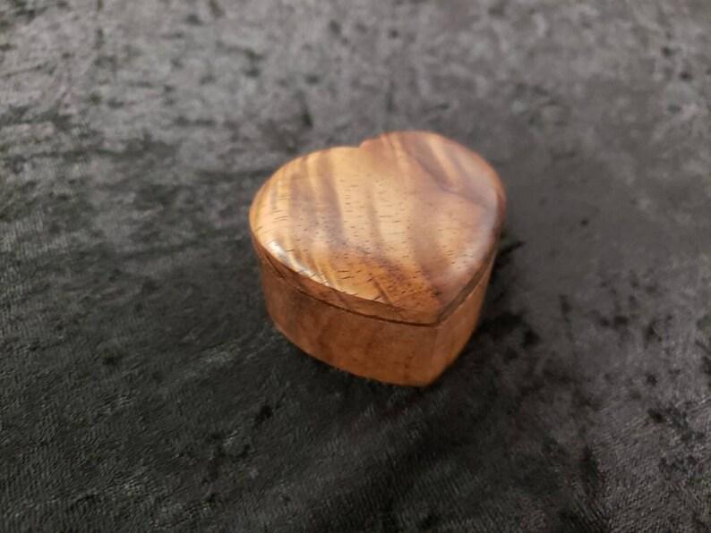 Handmade Koa Heart Box