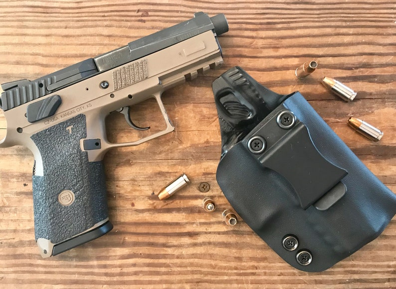 "CZ P-07 IWB Kydex Holster Adjustable Retention, Adjustable Cant One Piece  design  080"" Kydex  Handmade in the USA"