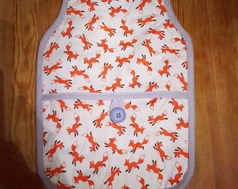 Foxy hot water bottle cover