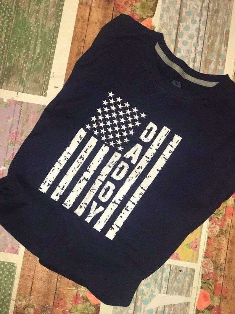 American flag daddy t shirt