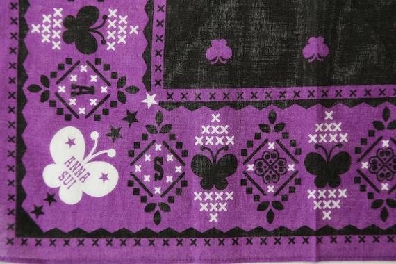 Authentic Anna Sui designer cotton scarf neckerch… - image 4