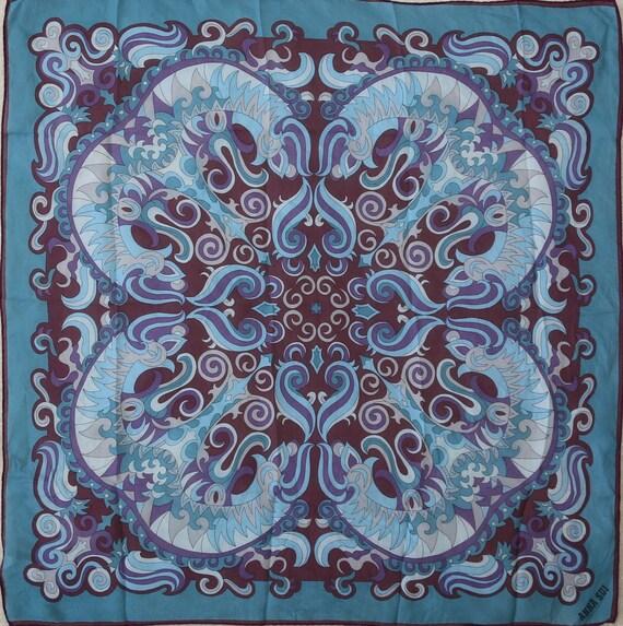 Authentic 70s Anna Sui designer small silk scarf … - image 2