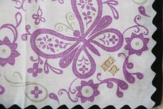 Authentic Anna Sui designer cotton scarf neckerch… - image 5