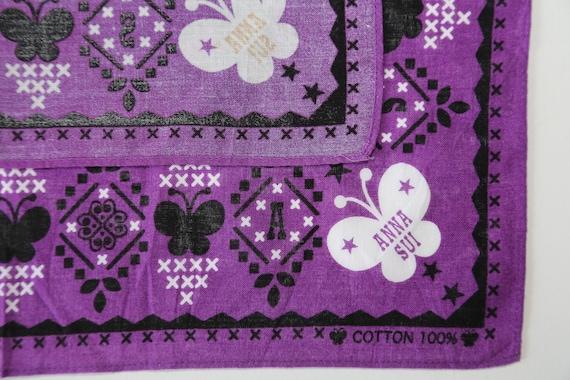 Authentic Anna Sui designer cotton scarf neckerch… - image 3