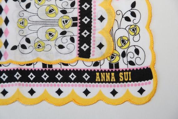 Authentic Anna Sui designer scallop edges Birds c… - image 3