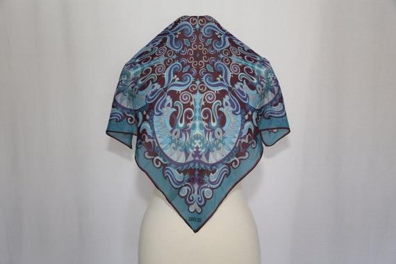 Authentic 70s Anna Sui designer small silk scarf … - image 1