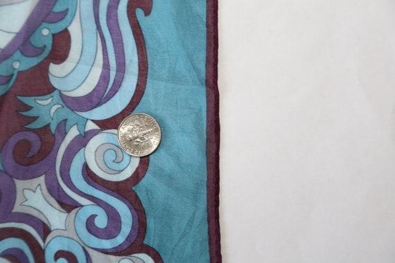 Authentic 70s Anna Sui designer small silk scarf … - image 6