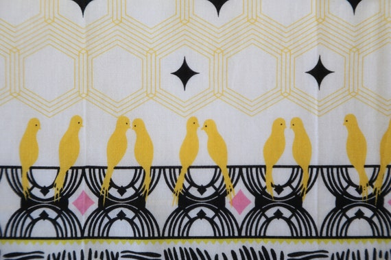 Authentic Anna Sui designer scallop edges Birds c… - image 5