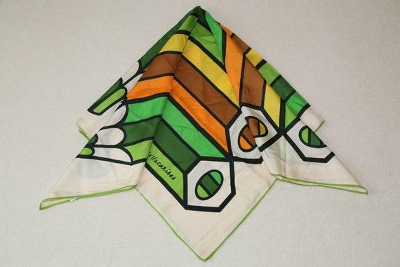 49cb677720eb Très à collectionner Yves Vacarisas 60 s twill foulard en soie   Etsy