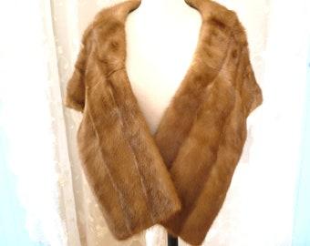 mink stole, mink cape, fur, mink, accessories, vintage, vintage mink stole, divinelolavintage, evening shawl, Brown mink