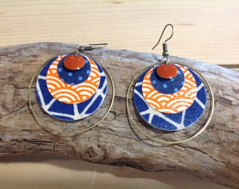 Hoop earrings small fabric