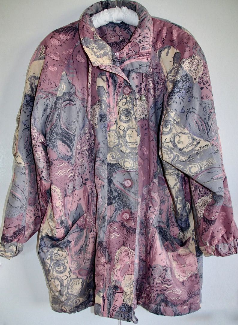Vintage oversized Jacke tolle Farben perfect Condition tolles Muster LXL Saben bunt SIZE LXL super Zustand Gr