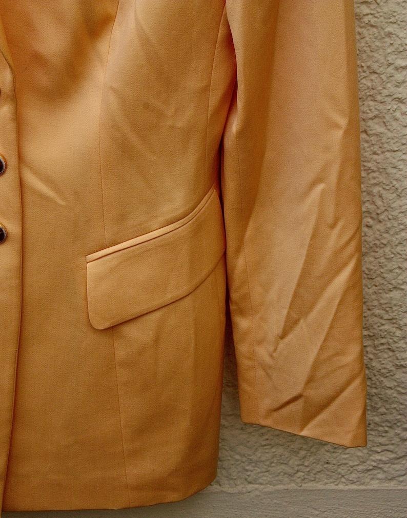 gold Buttons Samy perfect Condition Vintage Escada Blazer in Hellorange Super Zustand oversized Gr.SM  SIZE SM
