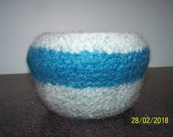 Large Plastic Lined Felted Wool Bowl / Planter