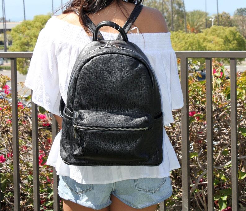 Vera Pelle Italian Leather Backpack for Her Handmade in Italy