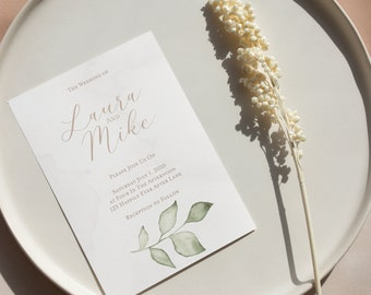 Wedding Invitation Bundle   Invitation, Thank You Card, RSVP, Save The Date