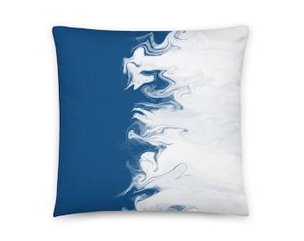 Classic Blue Pillow Design