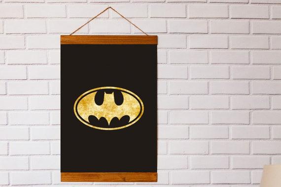x4 BATMAN BEDROOM Personalised FREE P/&P Batman prints Home decor