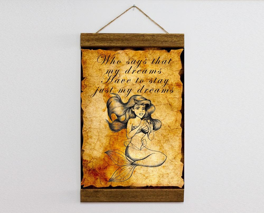 The Little Mermaid Quote Ariel Mermaid Nursery Decor Framed | Etsy