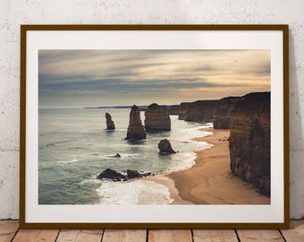 The 12 Apostles, Great Ocean Road, Victoria Australia Photography Print, Beach Photography Print, Beach Wall Art, Large Wall Art, Beach