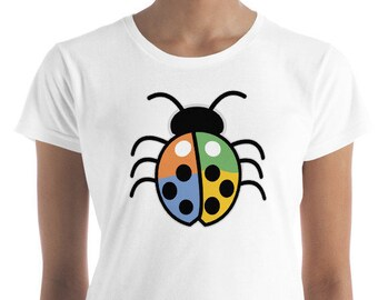 Women's  Colored Lucky Ladybug short sleeve t-shirt