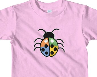 Toddler Colored Lucky Ladybug Short sleeve kids t-shirt