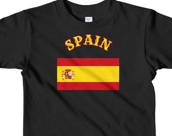 Toddler Spanish Country Flag Spain Flag Short sleeve kids t-shirt