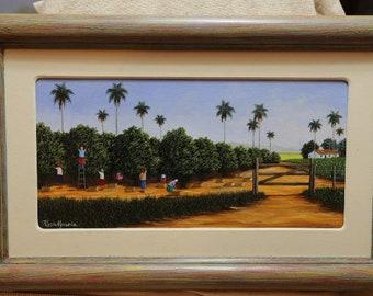 Maria Usoria Orange Plantation 16 inches by 10 inches