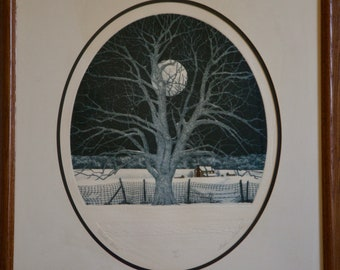 Stephan Sebastian Signed and numbered Etching Winter Bliss