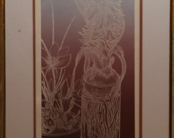 """Pasternak Signed and Numbered Print """"Spring Bulbs"""""""