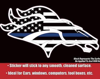 Denver Broncos Decal Etsy