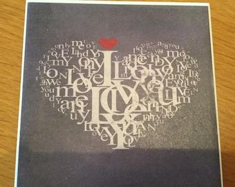 Love Heart Tile Coaster