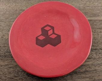 Red Block Dish