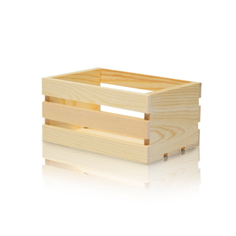 Mini Wood Crate 5 Inch Natural Wooden Crate For Decor Storage Diy Gift 5x33x24