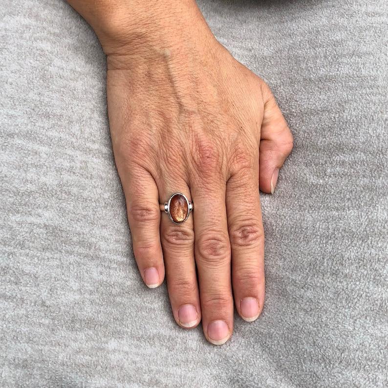 Sunstone ring size O 12