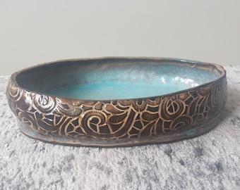 Handmade Cetamic. Decoration. Backing dish. Ceramic serving dish