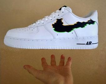 3D Glitch Nike Air Force 1 | Etsy