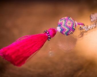 Spring pink tuft